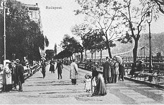 Promenade in Budapest, Hungary