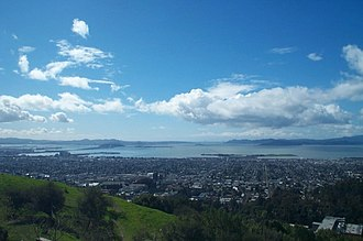 Lawrence Hall of Science - The view of the San Francisco Bay as seen from the Lawrence Hall of Science in Berkeley, California