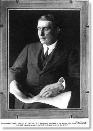 Francis McClean - Lt-Col. Frank McClean in 1919