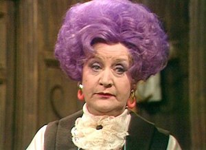 Mollie Sugden - Image: Mollie Sugden as Mrs Slocombe