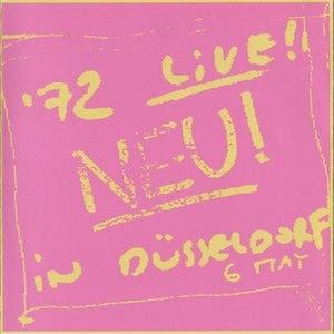 Neu! '72 Live in Düsseldorf - Image: Neu live