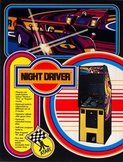 <i>Night Driver</i> (video game) 1976 arcade video game by Ted Michon