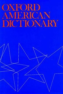 Oxford American Dictionary - Wikipedia