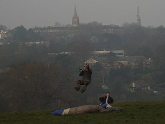 Parliament Hill, London - Kite Flyer on Parliament Hill