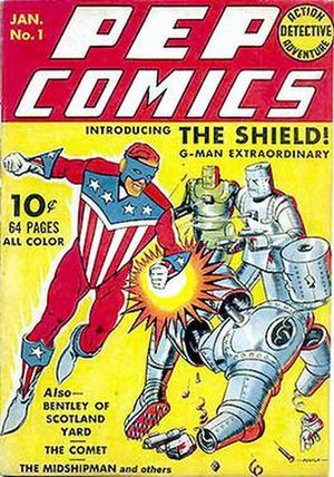 Shield (Archie Comics) - Image: Pep Comics 1
