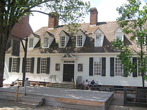 The Raleigh Tavern in Colonial Williamsburg, V...