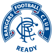 Scroll crest version with banner and 'Ready' motto, worn on shirts between 1990 and 1995.
