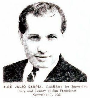José Sarria - Sarria donned a suit for his 1961 run for the San Francisco Board of Supervisors