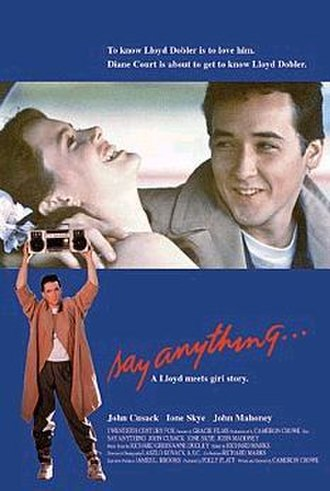 Say Anything... - Theatrical release poster