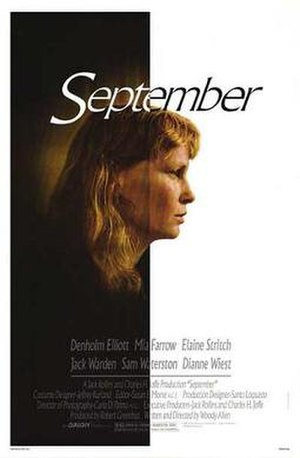 September (1987 film) - Theatrical release poster