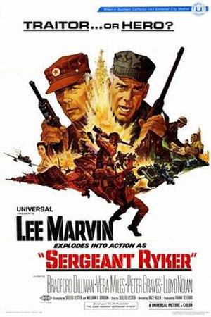 Sergeant Ryker - Image: Sergeant ryker movie poster 1968
