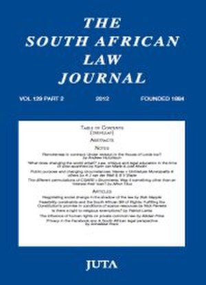 South African Law Journal - Image: South African Law Journal