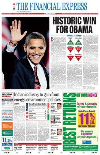The Financial Express (India) - Image: The Financial Express cover 03 28 10
