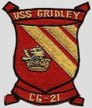 USS Gridley (DLG-21) - Image: USS Gridley CG 21 Badge
