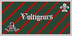 Les Voltigeurs de Québec - The camp flag of Les Voltigeurs de Québec.