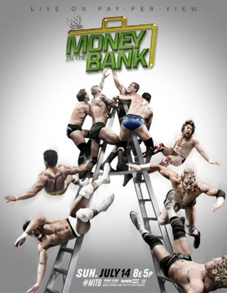 Money in the Bank (2013) - Promotional poster featuring several WWE wrestlers