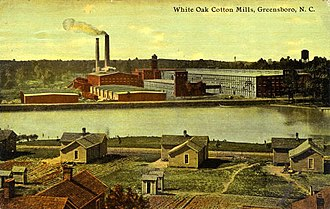 Mill town - White Oak Cotton Mills, Greensboro, N.C. circa 1914