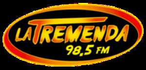 XHSAP-FM - Image: XHSAP La Tremenda 98.5 logo