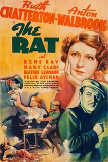 <i>The Rat</i> (1937 film) 1937 film directed by Jack Raymond