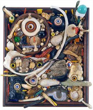 Alfonso A. Ossorio - Alfonso A. Ossorio, Forearmed, mixed media assemblage, 1967
