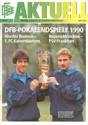 1990 DFB-Pokal Final - Image: 1990 DFB Pokal Final programme