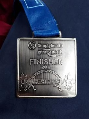 Great North Run - 2017 Great North Run finishers medal
