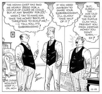 Room and Board (comic strip) - Gene Ahern's Room and Board (December 22, 1943)
