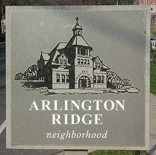 Neighborhood in Arlington, Virginia