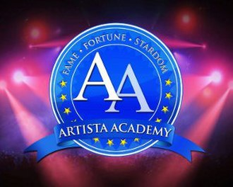 Artista Academy - Title card featuring the show logo and slogan.