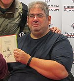Aaronovitch at a Forbidden Planet event