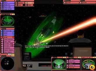 Star Trek: Bridge Commander - Main game screen, viewing from bridge.