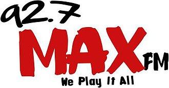 CJSP-FM - 92-7 Max-FM Logo 2011-2012