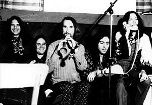Can (band) - Can c. 1972 (Left to right): Karoli, Schmidt, Czukay, Liebezeit, Suzuki
