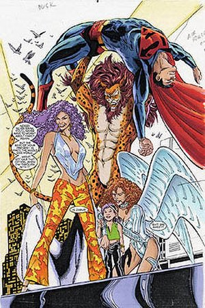Circe (comics) - Circe tries to take over New York City with her super-powered allies. Art by Phil Jimenez.