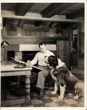 Clifford McBride - Clifford McBride and his dog Ace in 1928