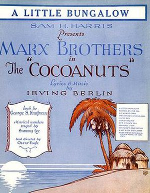 The Cocoanuts (musical) - Sheet music cover for the song A Little Bungalow