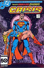 The death of Supergirl. Art by George Pérez.