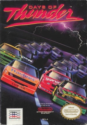Days of Thunder (video game) - NES cover art