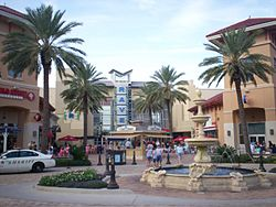 A view inside of the Destin Commons.