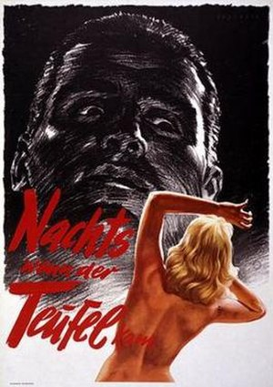 The Devil Strikes at Night - Original German poster