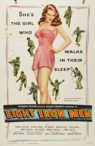 Eight Iron Men - Mary Castle on poster