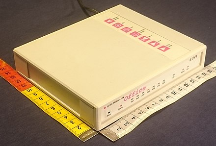 MicroLink Office, a voice-fax-data modem with standalone voice/fax box functionality Elsa-Voice+Fax-Box-Modem.jpg