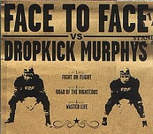 Face to Face vs. Dropkick Murphys album art