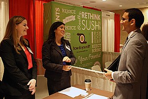 Hilton College of Hotel and Restaurant Management - Students get the chance to network with hospitality-industry recruiters twice a year at Hilton College's spring and fall career fairs.