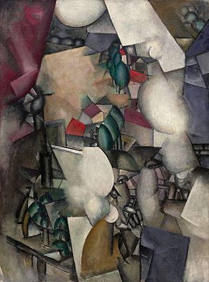 Fernand Léger - Les Fumeurs (The Smokers), 1911–12, oil on canvas, 129.2 × 96.5 cm, Solomon R. Guggenheim Museum, New York