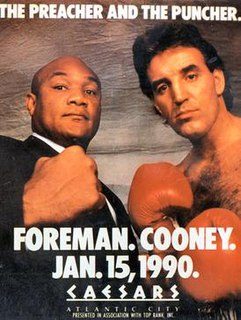 George Foreman vs. Gerry Cooney Boxing competition