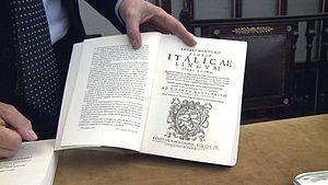 Agnolo Monosini - Image: Front page of reprinted Floris Italicae Lingue by Agnolo Monosini 1604