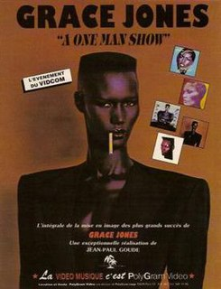 <i>A One Man Show</i> 1982 film by Jean-Paul Goude