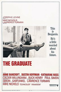 <i>The Graduate</i> 1967 romantic comedy drama movie directed by Mike Nichols