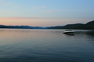 Great Sacandaga Lake - Image: Great Sacandaga Lake Dusk